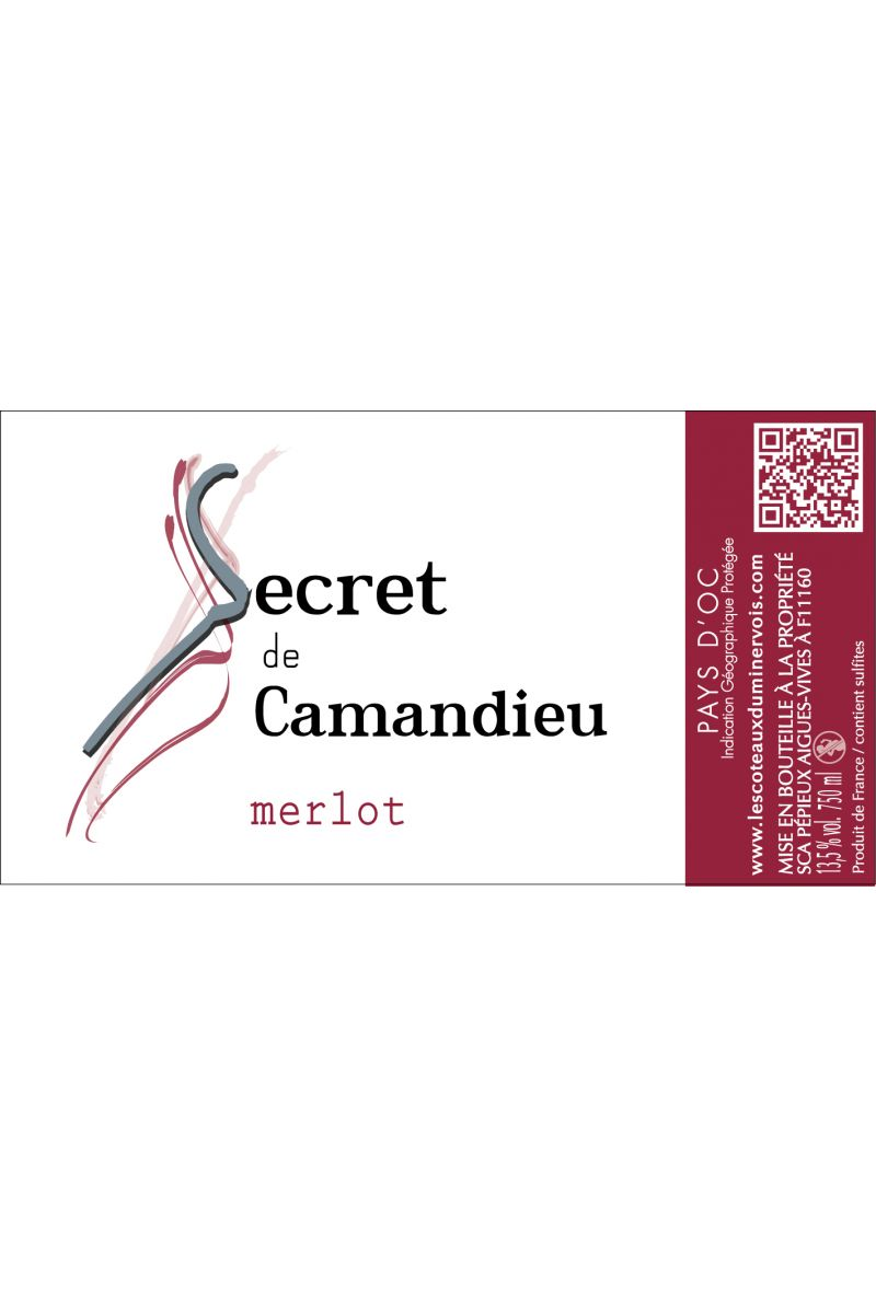 Secret de Camandieu Merlot - IGP OC