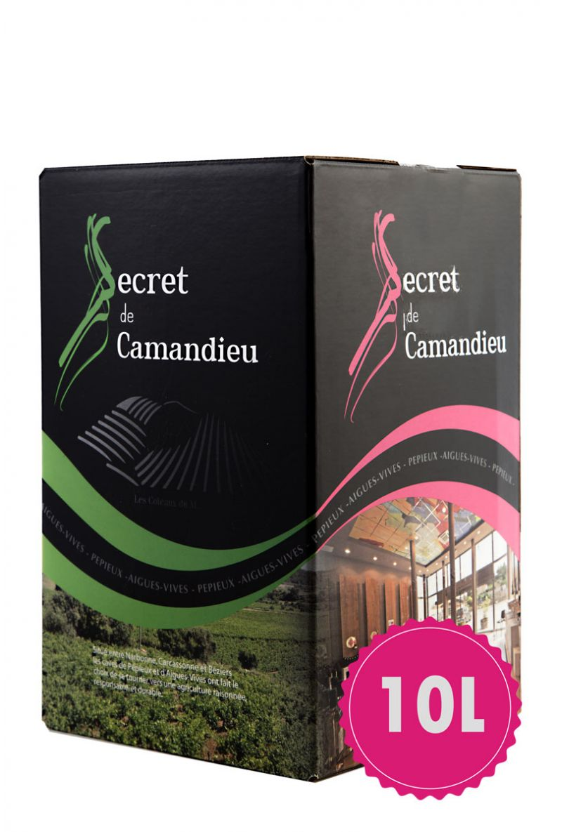 Bag in box Secret de Camandieu Rosé 10L